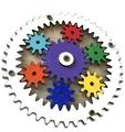 Механизм  шестерёнки круглый